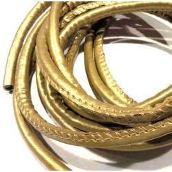 3m synth. gold Lederband 6mm Kunstlederband - Schmuckzubehör