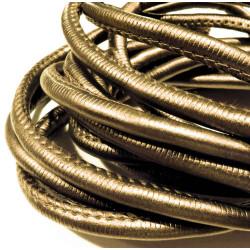 3m synth. bronze Lederband 6mm Kunstlederband - Schmuckzubehör
