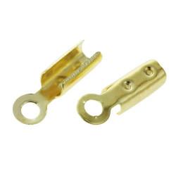 10x 14K vergoldete Endkappe 8x2mm vergoldete Schmuck Bandklemme - Schmuckzubehör