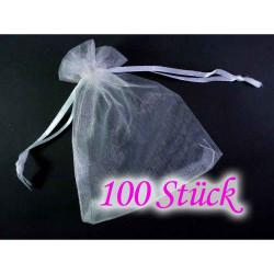 100 weisse Organzasäckchen ca. 15x10cm weisser Organzabeutel - Schmuckzubehör Schmuckverpackung