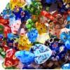 30 Stück bunte Herz Millefiori Perlen 12mm als Strang im Perlenmix - Schmuckzubehör Millefiori