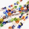 ca. 45 Stück bunte Herz Millefiori Perlen ca. 8x8mm als Strang im Perlenmix - Schmuckzubehör Millefiori