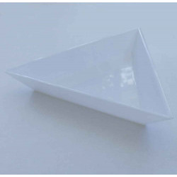 Weiße Perlensortier Schale 75x60x10mm Sortierbox - Schmuckzubehör