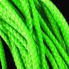 1m neongrünes PU-Lederkordel 6mm Kunstlederband für Lederarmband geflochten - Schmuckzubehör