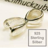 1x 925 Silber Collierschlaufe 18x8mm Haken für Anhänger Sterling Silber - 925 Schmuckzubehör Collierschlaufe