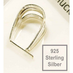 1x 925 Silber Collierschlaufe 13x9x7mm Haken für Anhänger Sterling Silber - 925 Schmuckzubehör Anhängerhaken