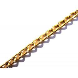 Gold Aluminiumkette 6x3.5mm goldfarbene Gliederkette - Schmuckzubehör
