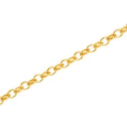 50cm gold Kette 4mm gold Gliederkette gold Schmuckkette - gold Schmuckzubehör