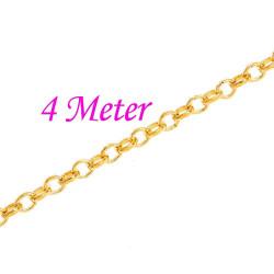 4m gold Kette 4mm gold Gliederkette gold Schmuckkette - gold Schmuckzubehör