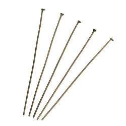 20 bronze Nietstifte 60mm bronze Kopfstifte Schmuckdraht mit Kopf - bronze Schmuckzubehör