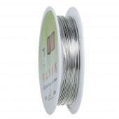 Silber Kupferdraht 0,8mm auf 3,3m Rolle - Schmuckzubehör