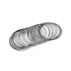10x Ringe schwarzmetall Spiraldraht ca. 55mm gunmetal - schwarzmetall Schmuckzubehör