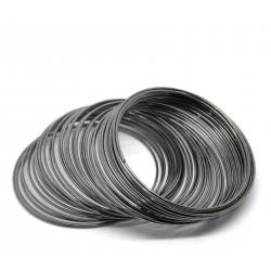 10x gunmetal Ringe 55mm x 1mm Memory Wire - gunmetal Schmuckzubehör