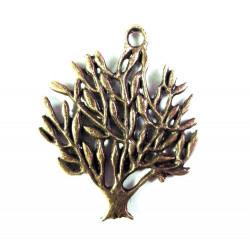 1x bronze Baum Anhänger ca. 31x25mm bronze Schmuckanhänger - bronze Schmuckzubehör
