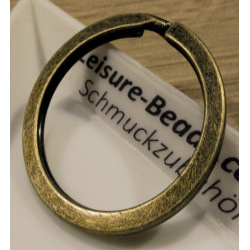 Bronze Schlüsselring 32mm Breite 3mm großer Ring bronzefarben matt stabil