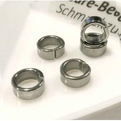 5x Edelstahl Biegering 7mm Breite 3mm Schiebeperle Bindering - Schmuckzubehör Biegering