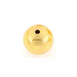 1x gold Metallperlen 14mm glatte Metall Spacer - Schmuckzubehör Metallperlen