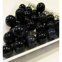 5x Schwarzfluss Perle 8mm Kunststeinperlen - Schmuckzubehör