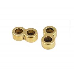 1x gold Bandverbinder 13x7mm Innen 4mm - Schmuckzubehör