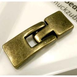 1x bronze Hakenverschluss 32x12mm Schmuckverschluss - Schmuckubehör Schmuckverschluss