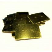 20 gold Schmuckkarten 35x25mm Papier ohne Schrift Schmuck Display Ohrstecker - Schmuckzubehör