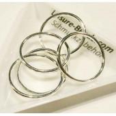 5x versilberter Ring 24mm x 1,7mm geschlossen rund in hellsilber Bindering - Schmuckzubehör