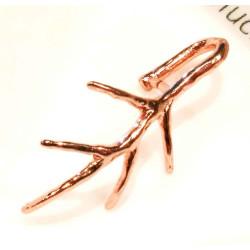 1x rosegold Collierschlaufe 21x15mm Innen 4,5x7mm rosegold Anhängerhaken - rosegold Schmuckzubehör Collierschlaufe