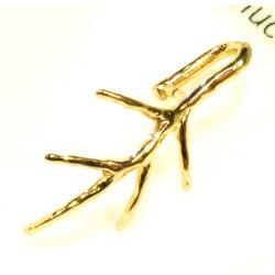 1x gold Collierschlaufe 21x15mm Innen 4,5x7mm gold Anhängerhaken - Schmuckzubehör Collierschlaufe