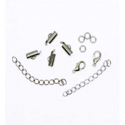 4x 10mm gunmetal Perlenband Verbinder als Set - Schmuckzubehör