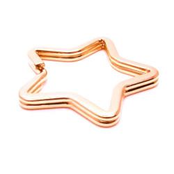 Rosegold Stern Schlüsselring 33mm stabil und schlicht - Schlüsselanhänger selber machen