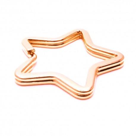 Rosegold Stern Schlüsselring 33Mm Schlüsselanhänger Basteln