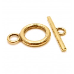 1x gold Knebelverschluss Ringteil 20x14mm Toggle goldfarben - gold Schmuckubehör