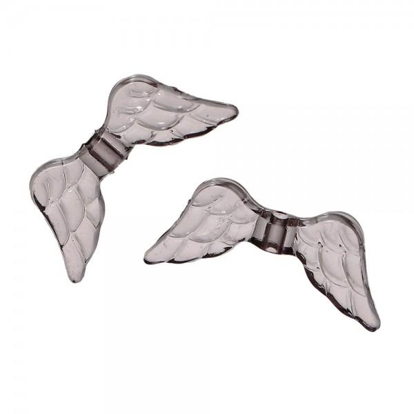 Graue Engelsflugel Acrylperlen 20x9mm Schmuckzubehor Engel Basteln