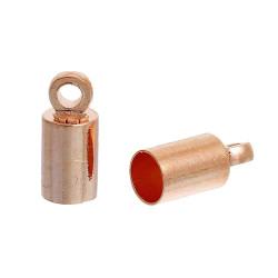 10x Rosegold Endkappe 9x4mm innen 3,5mm rosegold Einklebkappen - rosegold Schmuckzubehör