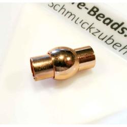 1x rosegold Magnet Verschluss 9x16,50x9mm innen 5mm Verschluss zum Einkleben Zylinder - rosegold Schmuckzubehör