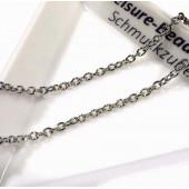 50cm Edelstahl Kette 2x2mm silber Schmuckkette Gliederkette - Edelstahl Schmuckzubehör