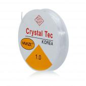 10m elastische Perlenschnur 1mm transparentes Nylonband auf Rolle - Schmuckzubehör