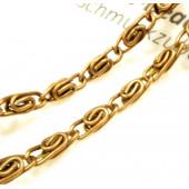 2m bronze Königskette 9,3x2,9x3,4mm - bronze Schmuckzubehör
