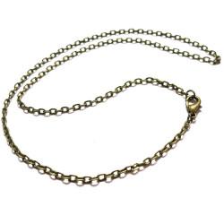 1x Bronze Halskette ca. 46cm bronze Gliederkette mit Karabinerhaken - Schmuckzubehör