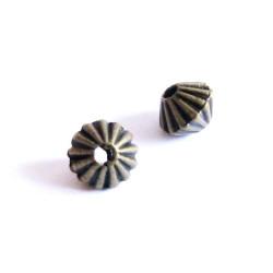 5x bronze Metallperlen 5x4mm bronze Spacer - Schmuckzubehör bronze Metallperle