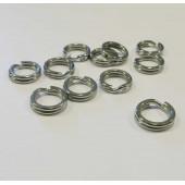 5x Edelstahl Spaltring 7,8mm x 2,2mm Doppelring - Schmuckzubehör