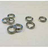 5x Edelstahl Spaltring 8,8mm x 2,6mm Doppelring - Schmuckzubehör