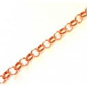 100cm rosegoldfarbene Jasseronkette 8mm - Schmuckzubehör Schmuckkette