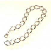 Silberfarben Armband 15x13mm bis 26cm Bettelarmband Fusskettchen - Schmuckzubehör