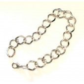 Silberfarben Armband 16x11mm bis 25cm Bettelarmband Fusskettchen - Schmuckzubehör