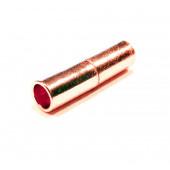 1x rosegoldfarben Magnet Verschluss 4x15mm Innen 3mm Verschluss zum Einkleben Zylinder - Schmuckzubehör