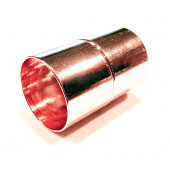 1x rosegoldfarben Magnet Verschluss 16x25mm Innen 15mm Verschluss zum Einkleben Zylinder - Schmuckzubehör