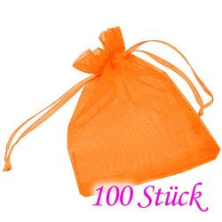 100x orange Organzasäckchen 10x15cm - Schmuckzubehör Schmuckverpackung