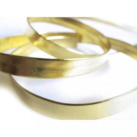 Ca. 1m synthetisches gold Lederband 10x1mm Kunstlederband - Schmuckzubehör