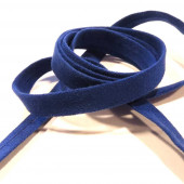 1m pflaumenblaues Kunstlederband 10mm x 1mm Wildlederoptik - Schmuckzubehör Lederband
